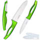 XYJ Kitchen 4 Inch Utility 6inch Chef Knives Peeler Green Handle White Blade Sheath Ceramic Knife Set Cooking Tools Top Selling