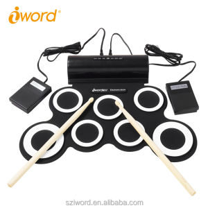 IWord G3001 GEMACHT Flexible Silikongummi Digital Electronic Roll Up Drum Kit