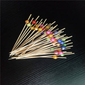 Completely biodegradable bamboo party stick with natural color
