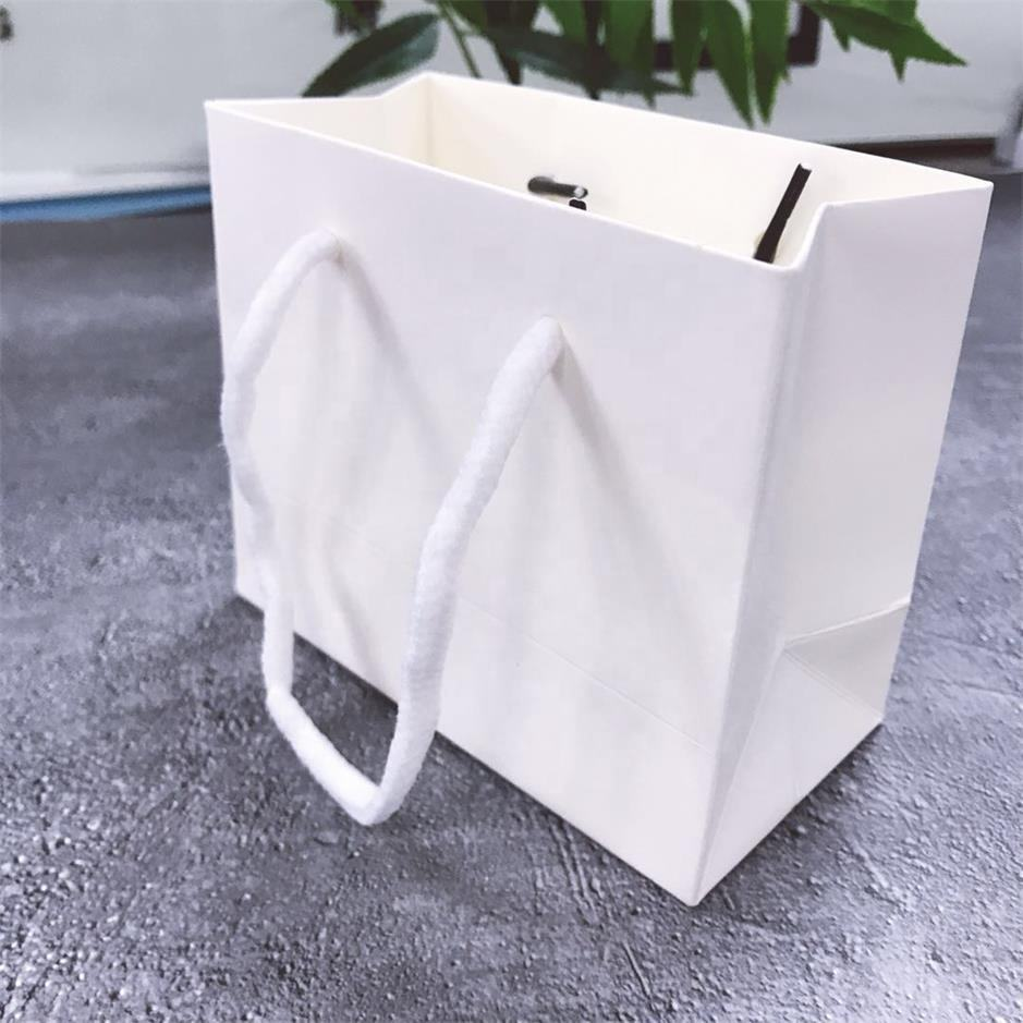 Recyclable 크래프트 Paper Bag With Your Own Logo, Custom 쇼핑 Paper Bag 대 한 식품 와 Handle