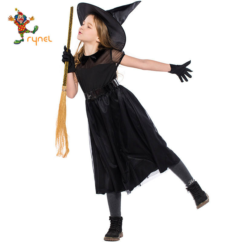 halloween costume children black witches tarot cosplay costume PGCC2697
