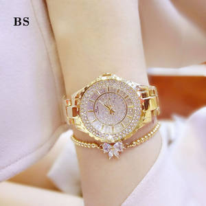 Luxury stone Women Wrist Watch Slim Stone Quartz Watch Ladies