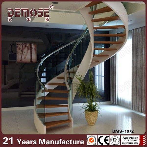 plastic stair handrail spiral stairs with wood stair steps