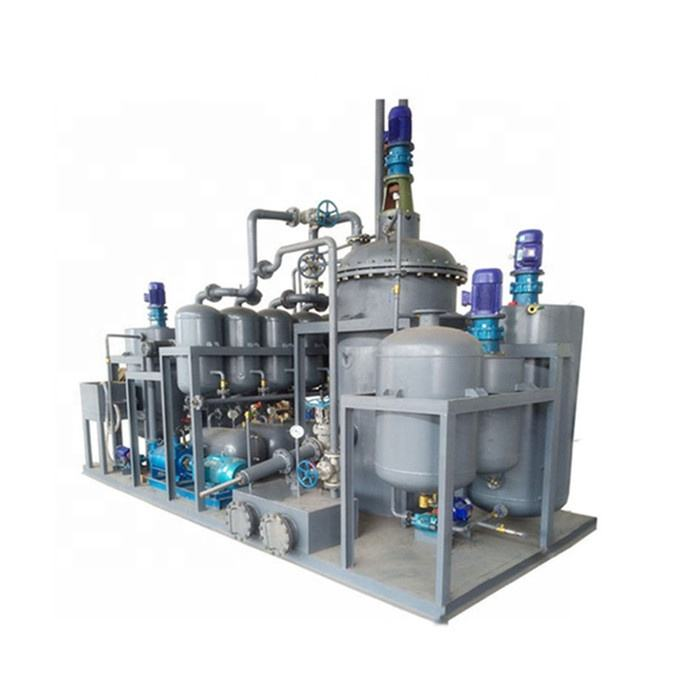 Used black engine to recycling to base oil by vacuum distillation technology