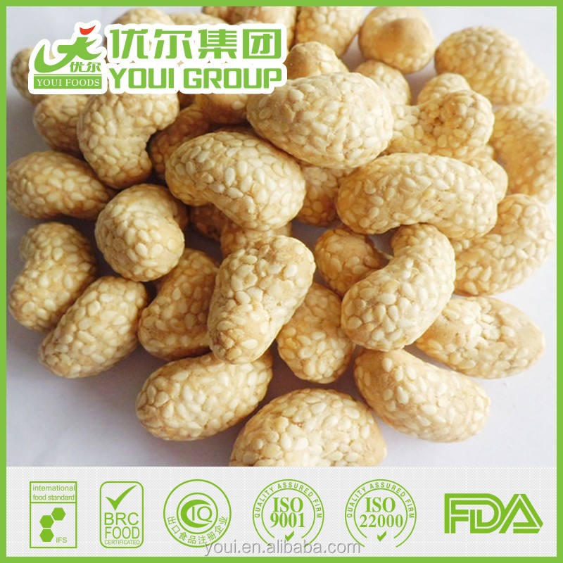 ISO Certified Sesame Coated Cashew Nuts Price