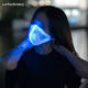 Hot Selling Lighting Dust Luminous Glowing 7 Color Festival Half Face in the Dark DJ Power Light up Glow Rave Party LED Mask