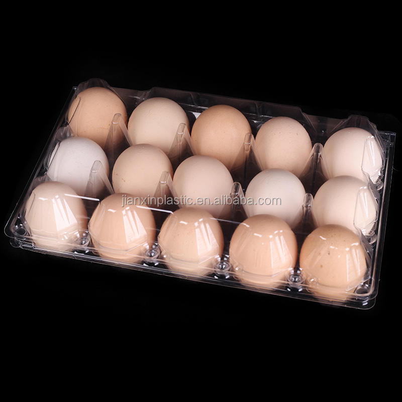 15-cell egg tray packaging box plastic blister hard carton egg tray