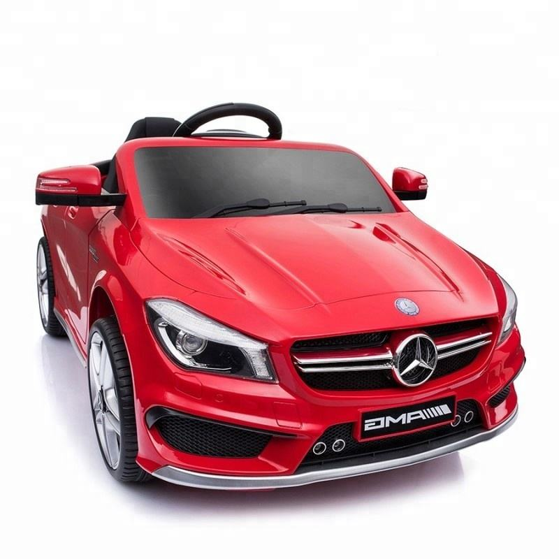Licensed Mercedes Benz CLA45 high quality 12v battery operated 2.4g remote control electric ride on cars for kids to drive