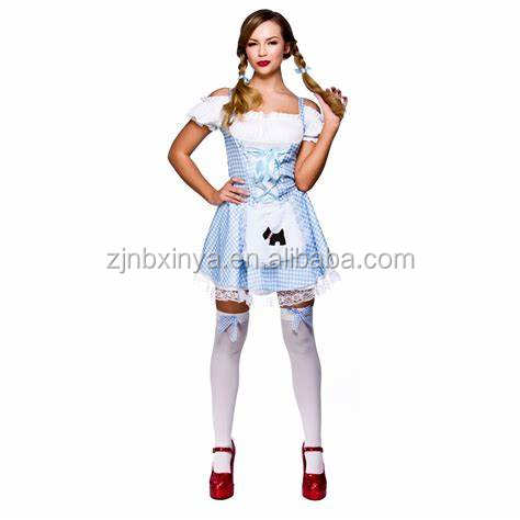 GIRLS DOROTHY COSTUME AND BASKET SCHOOL BOOK WEEK FANCY DRESS CHILDS CHARACTER