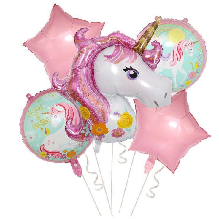 Party Supply Birthday Decorations Kids Horse Foil Balloons 18inch Happy Birthday Balloons Set