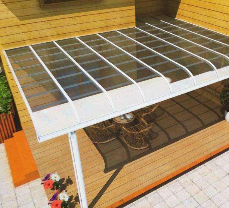 terrace cover with polycarbonate roof terrace awnings 100% UV protection