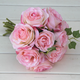 wholesale artificial 10heads silk rose bouquet for wedding decoration