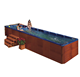 5% discount new design multifunctional acrylic family tub large swim spa