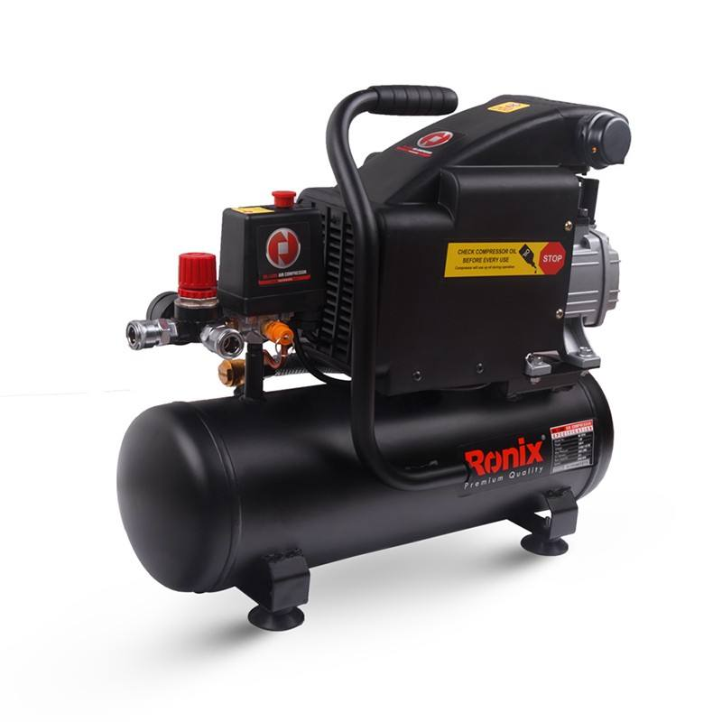 Ronix New Air Compressor 10Liter 1Hp Power Tools 8Bar Machine Model RC-1010