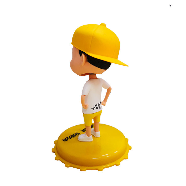 Customized plastic bobble head action figure for gift