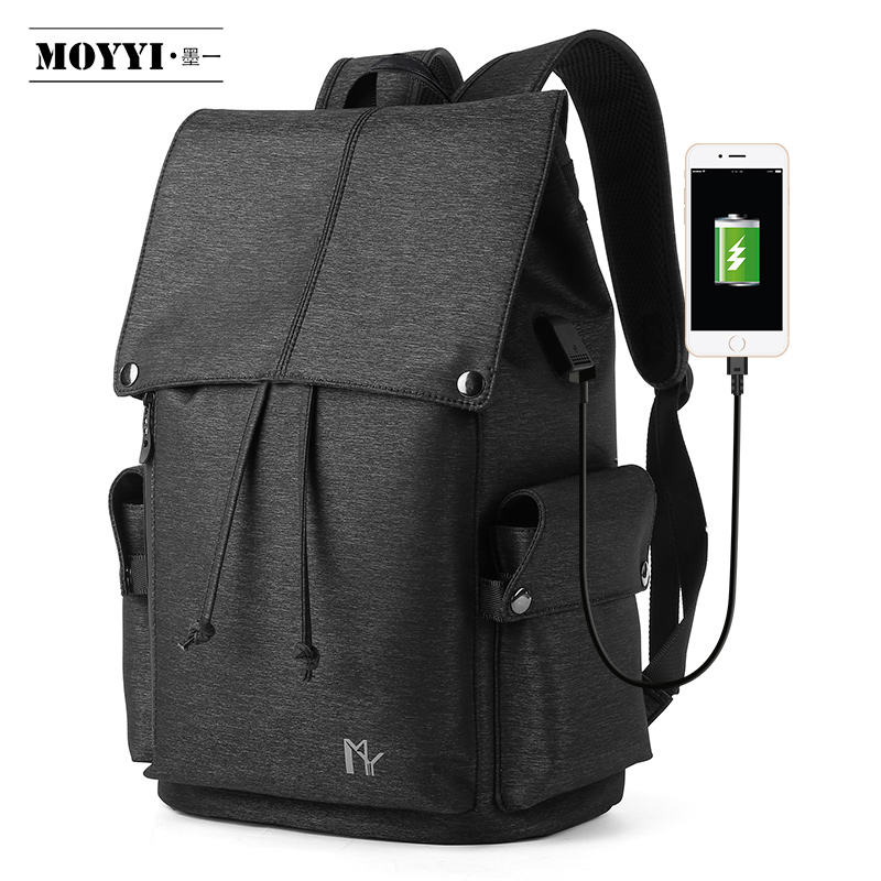 MOYYI Modern leisure backpack comfortable breathable shoulder strap eco friendly material usb charging backpack
