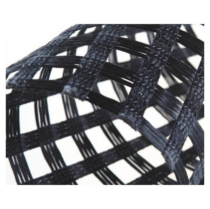 Knitted Polyester geogrid 200-30KN for railway slope reinforced