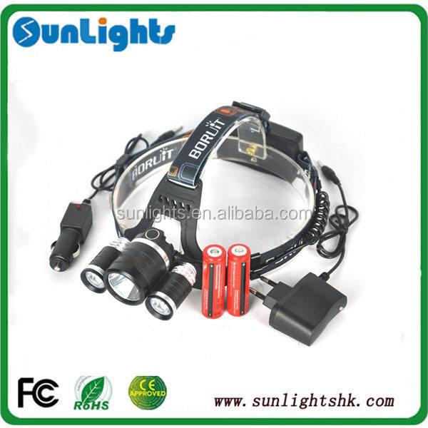 RJ-3001 8000 التجويف xm-l t6 + 2r5 رئيس الشعلة 4 وضع كشافات led قابلة المصباح رئيس الخفيفة + 2 × 18650 البطارية والشاحن