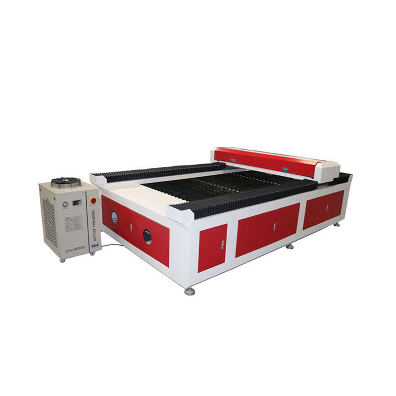 2 mm stainless steel cut cnc laser cutter machine/ 280W co2 metal laser cutting machine with CW6000 water chiller