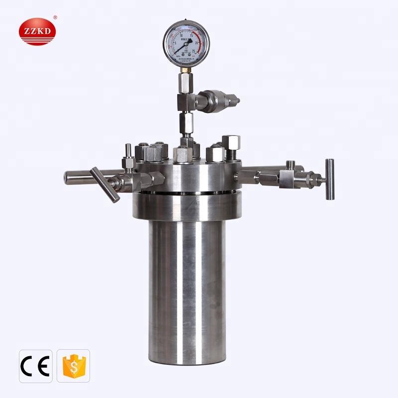 Lab Simple Stainless Steel Synthesis Reactor Pressure Vessel