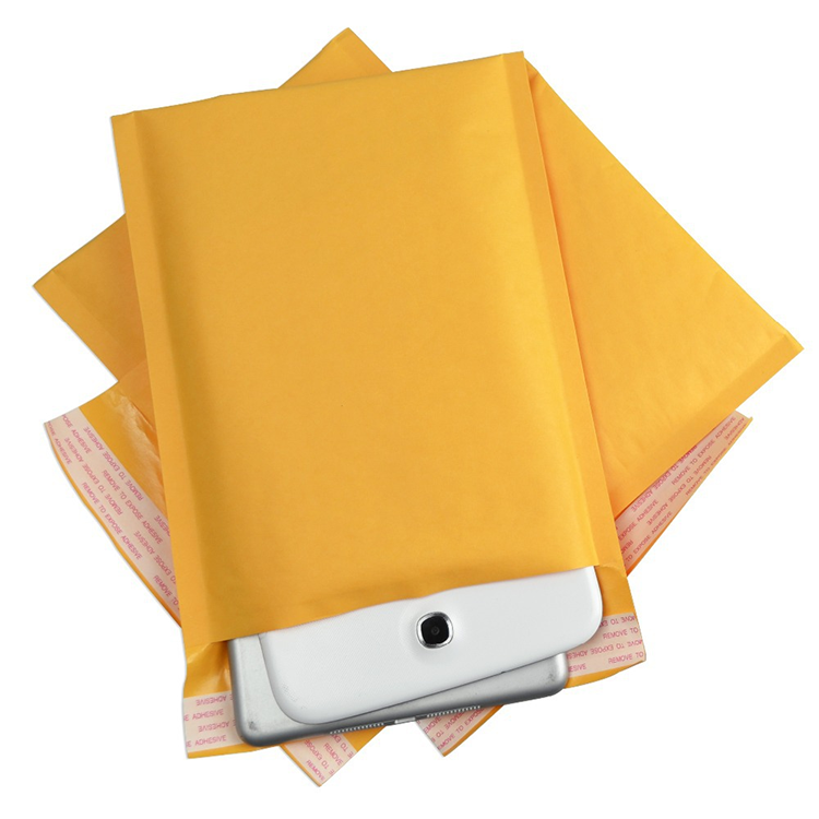 Wholesale Customized Printed Tear Proof Kraft Paper Padded Shipping Bubble Mailers Envelope
