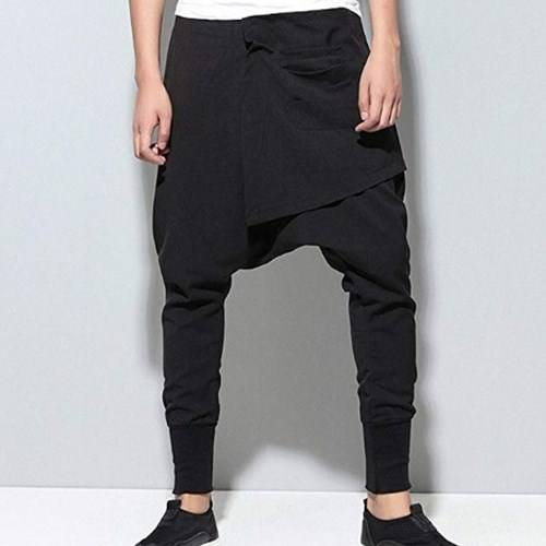 Fashion Cool Men Harem Pants Casual Loose Baggy Joggers Hip Hop Dance Pant One Size Street Hippies Trousers