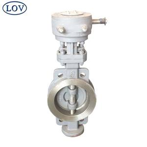 Chinese Suppliers DN150 Carbon Steel Hand Wheel Lug Wafer Triple Offset Price Butterfly Valve