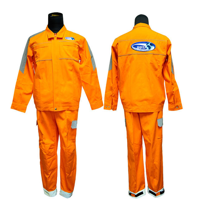 Durable Fireproof Protection 100%cotton(flame retardant)Fireman Coveralls uniforms for men WHolesale &Customized logo