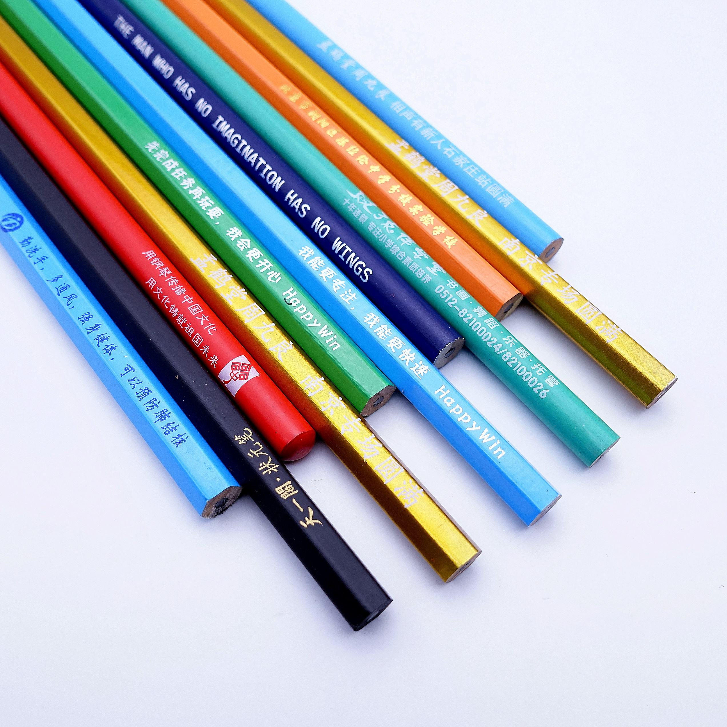 Promotional high quality custom logo printed wooden standard HB 2B lead pencil