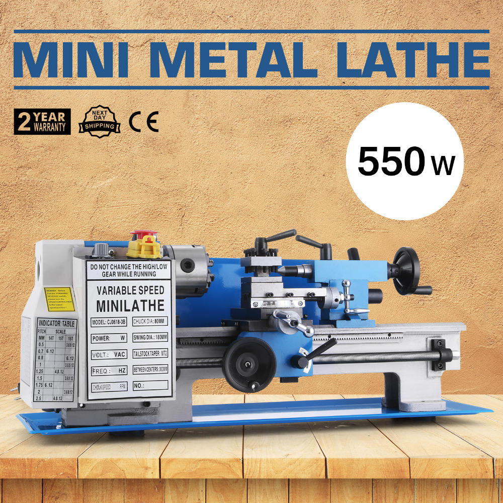 lathe 0618 3B Procesamiento Mini Metal Torno Metal Lathe 550W Velocidad Variable mini lathe machine
