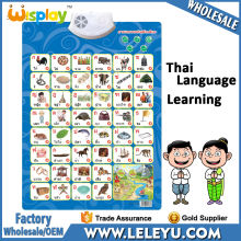 Latest Thai Educational Poster for Children Learning Chart Toys Kids Sound Wall Chart