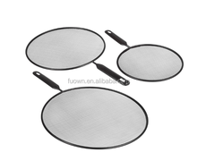 Hot sell kitchen pan cover cooking tool stainless steel oil splatter guard