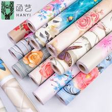 Wholesale floral  wall paper home decor self-adhesive beautiful flower bedroom wallpaper