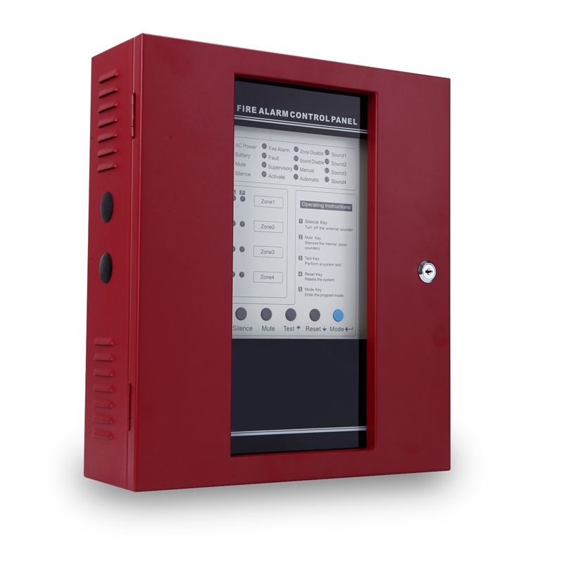 Feuer systeme wired 4 zone feuer alarm control panel