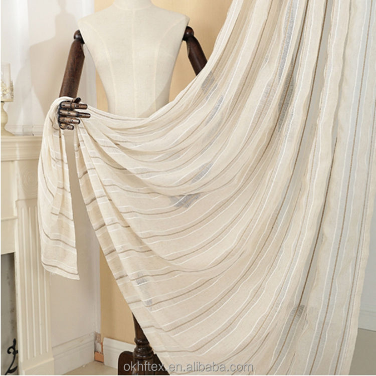 Customized Classic Cambric Natural Linen Sheer Curtain