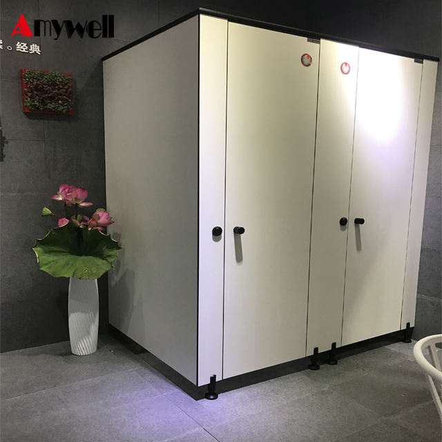Shenzhen factory hpl laminate light grey mouldproof toilet partition board