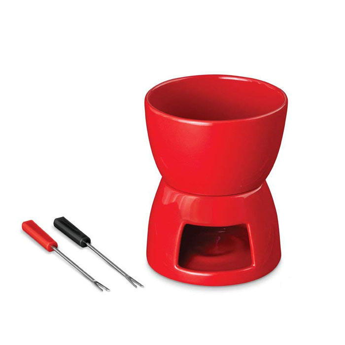 High Quality Red Cheese Fondue Mug Set for Valentine's Day