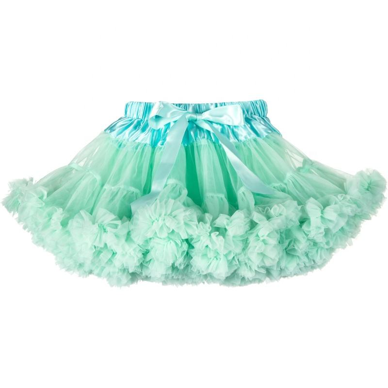 Kids Apparel Manufacturer Direct Selling Kids Girls Fluffy Tulle Fluffy Tutu Mini Skirt