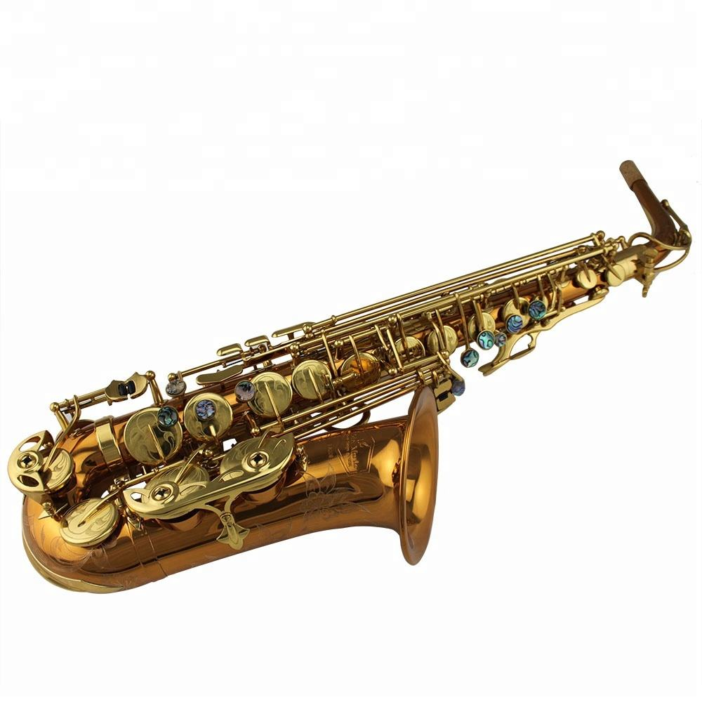 High Grade Tide Music R54 Phosphor Copper gold brass body large bell Alto Saxophone