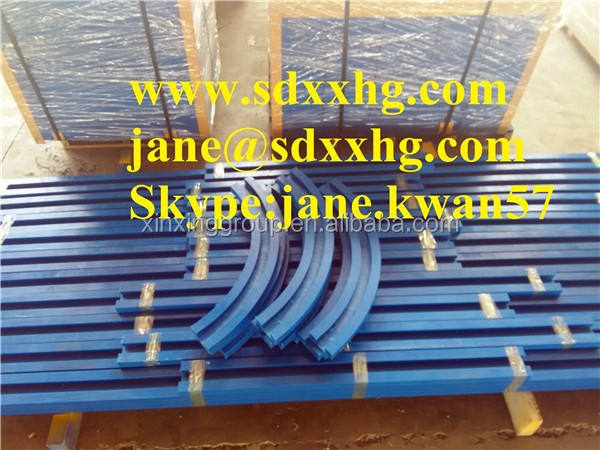 Direct and curve colored UHMW plastic chain guide track rail/ anti-abrasion uhmwpe strips and sheets