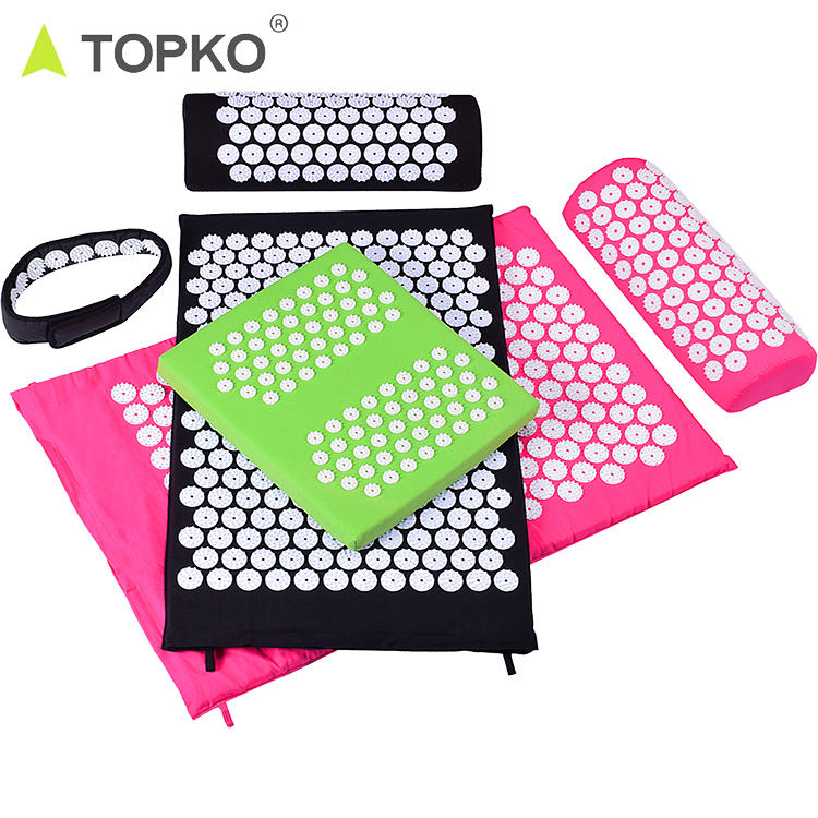 TOPKO hot selling Acupressure Mat and Pillow Set acupuncture mat and pillow