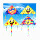 OEM Amazon Factory Direct Sale High Quality New Products Outdoor Sport Easy Flying Cartoon triangle Professional Kite Toy