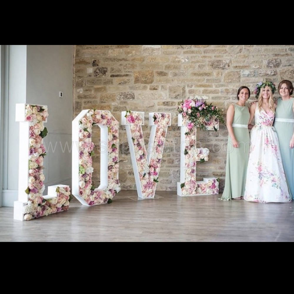 Wedding decoration flower artificial, 3d large flower love letters for wedding supplies
