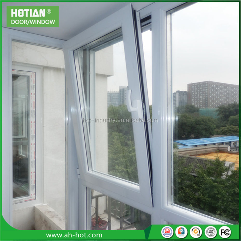 With Free Sample [ Window Windows Glasses ] White PVC/UPVC Window Tilt Turn Windows High Quality Double Tempered Glasses PVC Windows Cheap Casement Windows