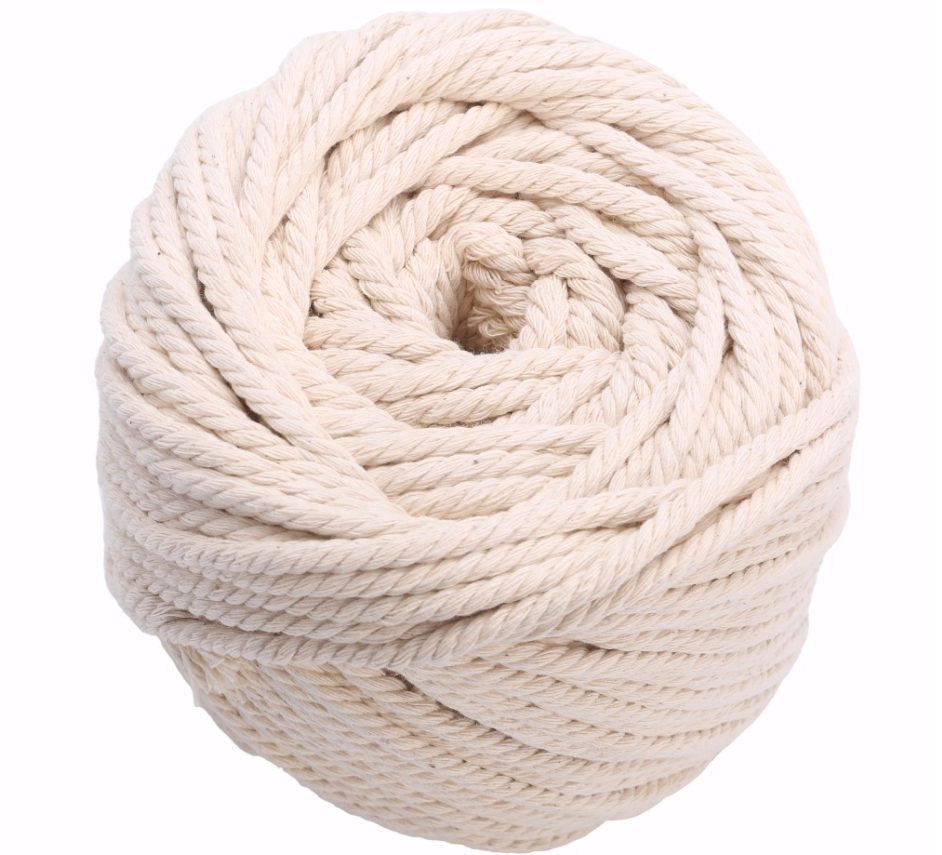 Cotton macrame cord natural colour 3mm 4mm 5mm 6mm