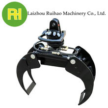 excavator attachment hydraulic rotator mechanical grapple