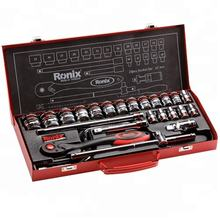 Ronix Hand Tool Universal Ratchet Socket Wrench Set 24 pcs RH-2644 in stock