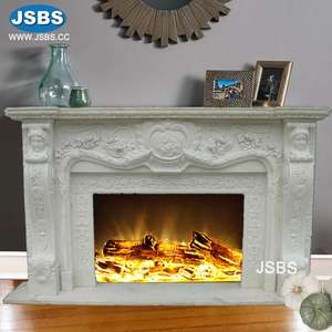 customized designed Classic French Rococo White Marble Fireplace Insert for Indoor