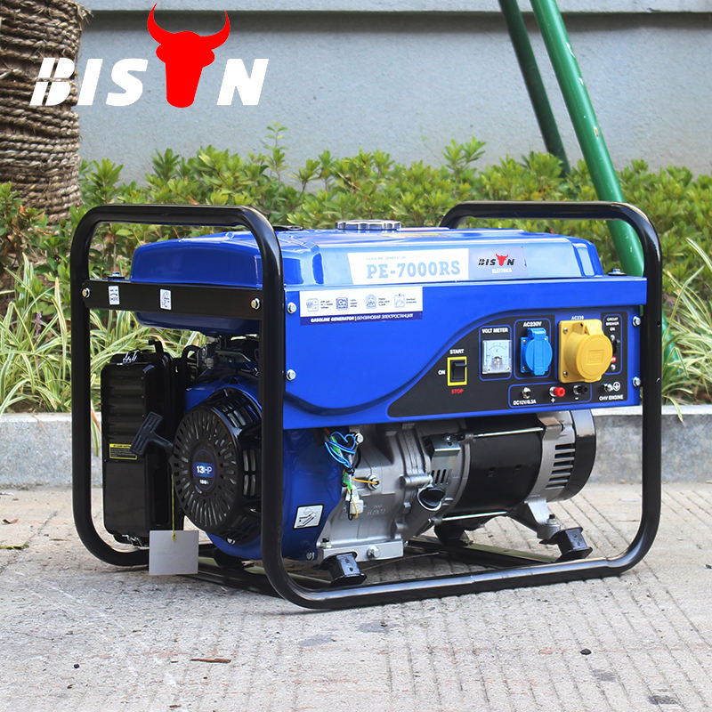BISON China Taizhou <span class=keywords><strong>5KW</strong></span> Air-cooled Single Phase Elektrische <span class=keywords><strong>Benzin</strong></span> <span class=keywords><strong>Generator</strong></span> 6500 Tragbare <span class=keywords><strong>Benzin</strong></span> <span class=keywords><strong>Generator</strong></span> für Home