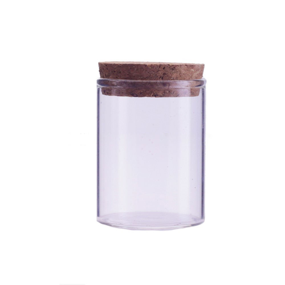 2020v Heat resistant handmade mouthblown 9oz glass candle jar glass storage jar with cork lid